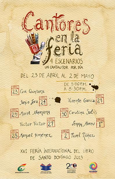 Feria del Libro tendrá destacados cantautores de RD y del extranjero