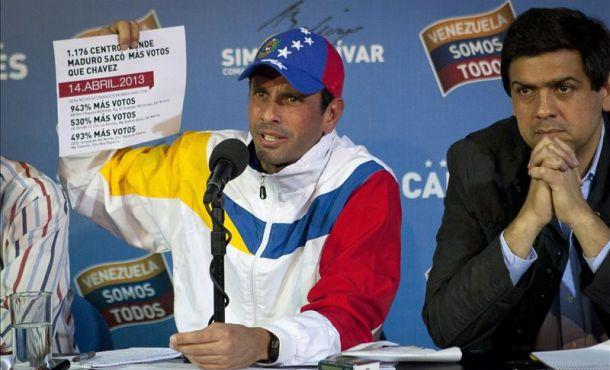 Tensión antecede impugnación de Capriles a resultados de comicios