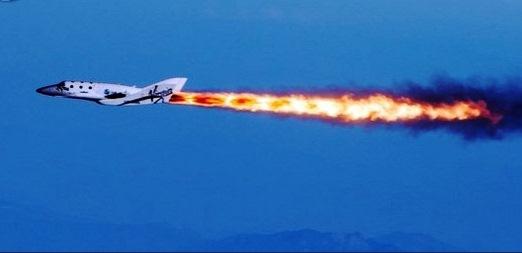 La futura nave espacial para turistas vuela sola por primera vez