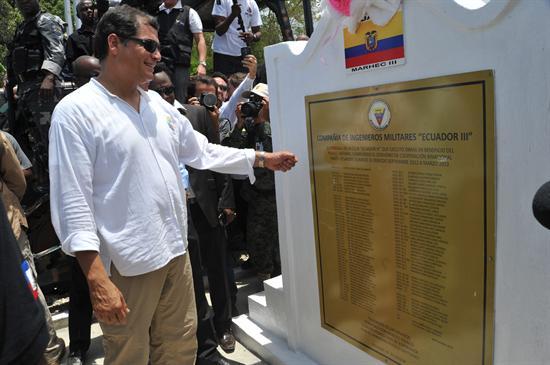 Ecuador invierte 15 millones de dólares en obras en Haití