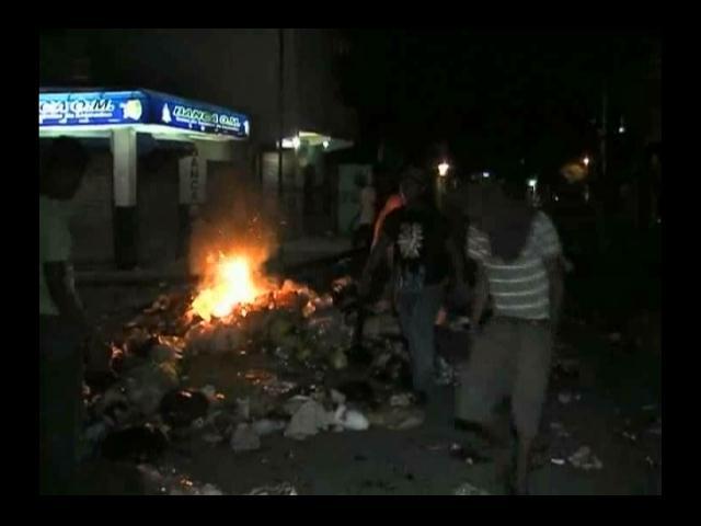 Dos heridos en protestas en Bonao; paro se cumple casi a totalidad