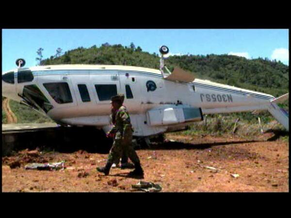Helicóptero se precipita en Constanza; hay 3 heridos
