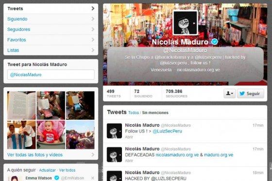 Piratean la cuenta en Twitter de Maduro y dicen que fue desde Bogotá