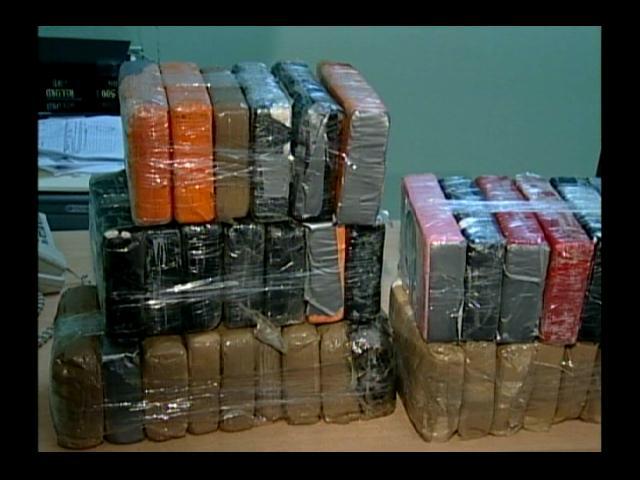 DNCD incauta 18 pacas con 25 paquetes de drogas cada una