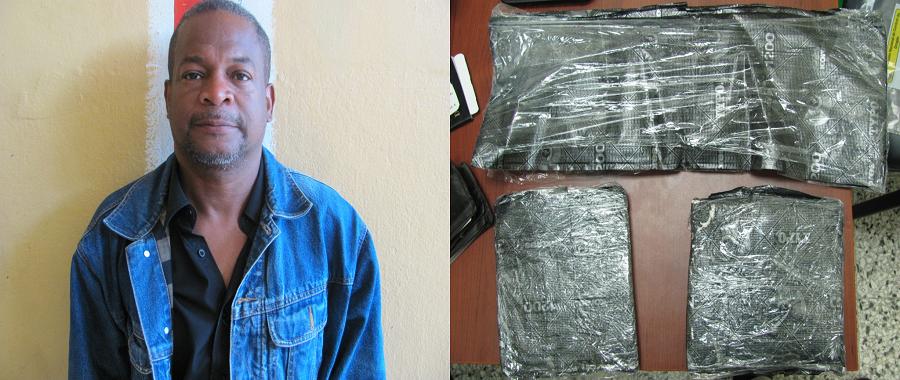 Arrestan hombre viajaría NY con 3 paquetes coca desde aeropuerto Santiago