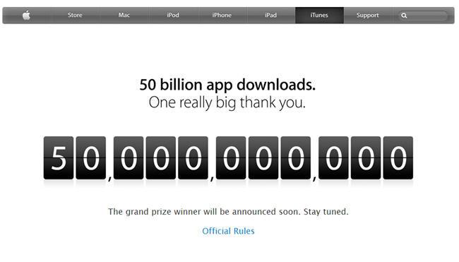 App Store sobrepasa los 50,000 millones de descargas de aplicaciones