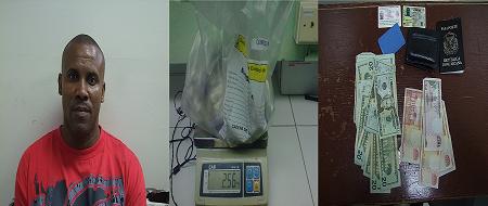 DNCD arresta hombre viajaría a PR con 96 bolsas de cocaína