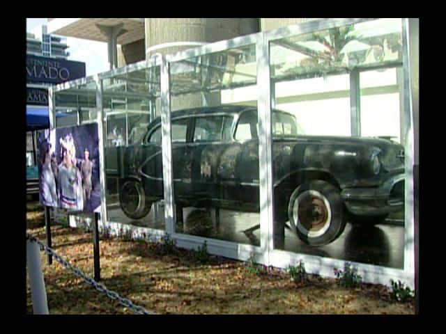 Exhiben los vehículos del tiranicidio de Trujillo
