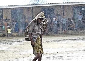 Martelly y Lamothe visitan norte Haití donde lluvias causan miles refugiados