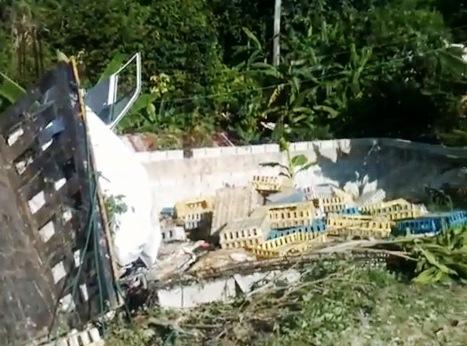 Mueren 2 nacionales haitianos en accidente de camión pollero en Nagua