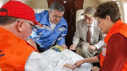 Rousseff parte hacia Minas Gerais para visitar zonas afectadas por lluvias