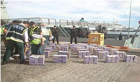 Decomisan 550 kilos de cocaína próximo a Islas Canarias