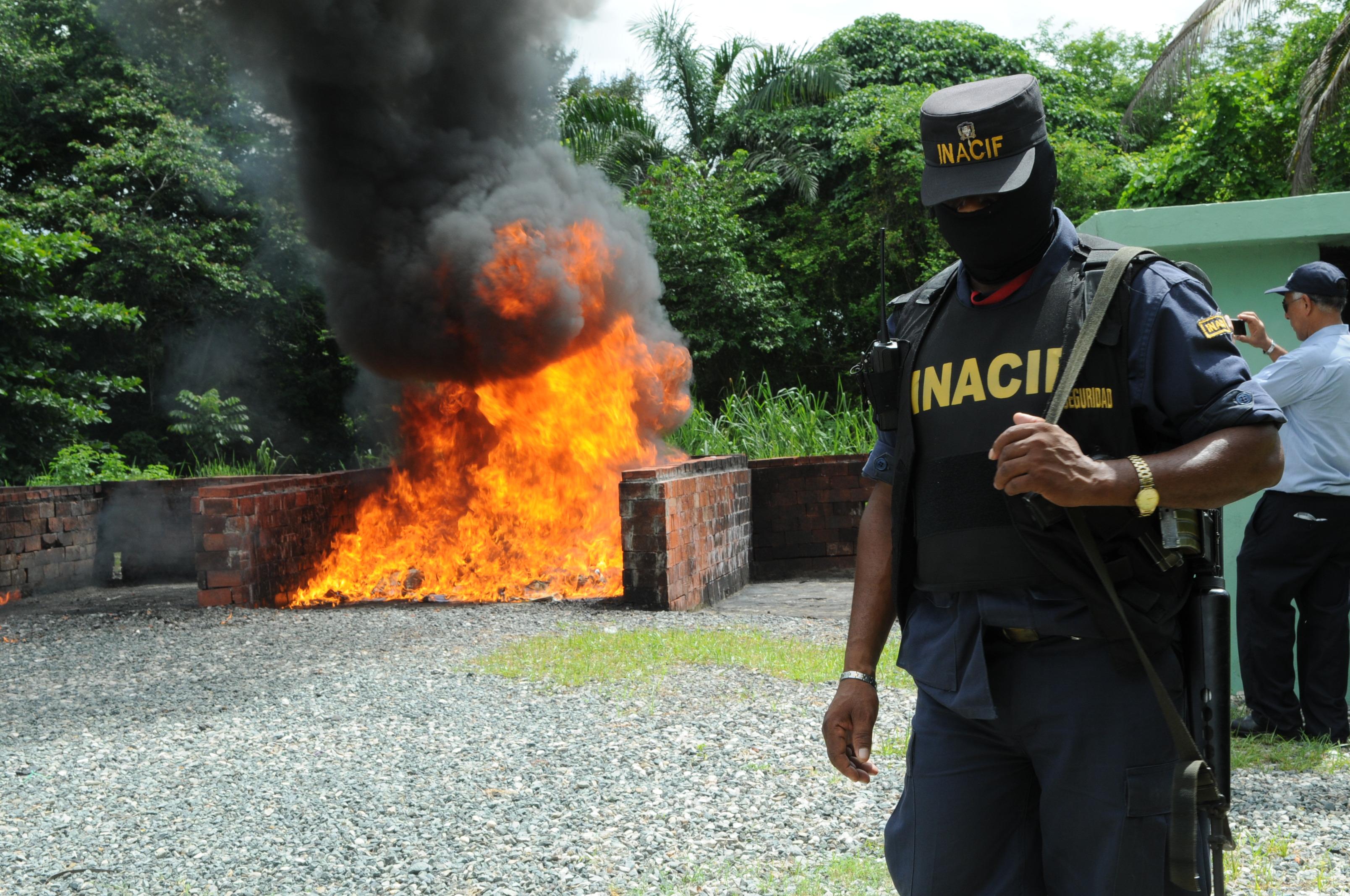 Procuraduría incinera 64 kilos de drogas