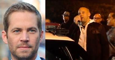 Vin Diesel visitó lugar donde murió Paul Walker