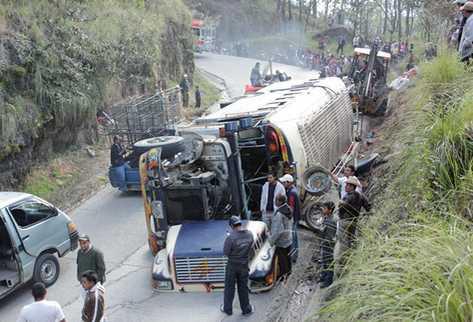 Un accidente de autobús boliviano en Chile deja 10 muertos y 41 heridos