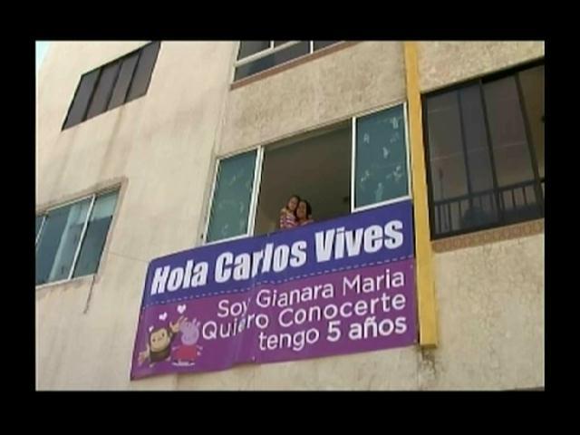 Niña de cinco año sueña con conocer a Carlos Vives
