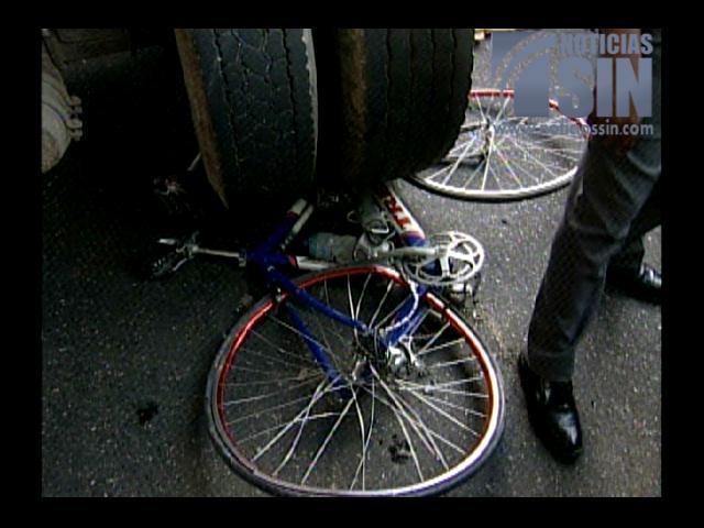 Muere ciclista en accidente