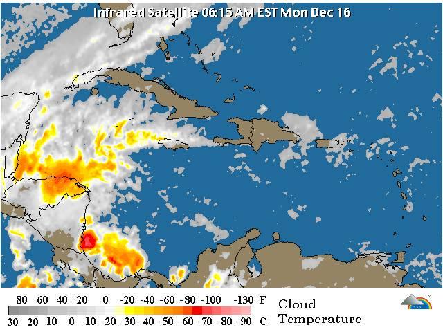Meteorología pronostica lluvias débiles; mañana vaguada se acercará a RD