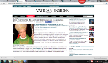 Repercute en prensa romana reprimenda del cardenal a Serrano