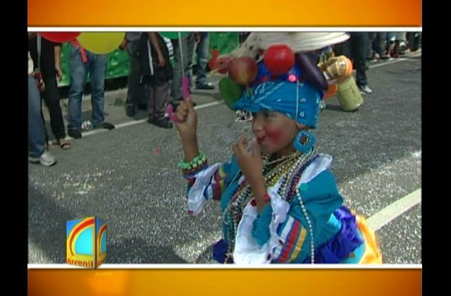 Ministerio de Cultura presentó este domingo el desfile del carnaval infantil