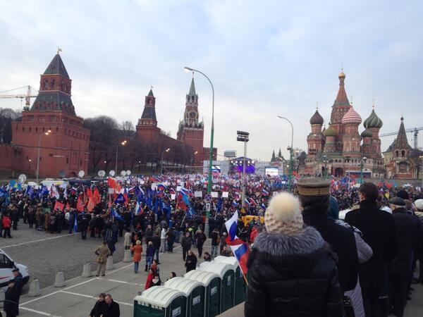 Decenas de miles de personas apoyan en Moscú la reunificación con Crimea