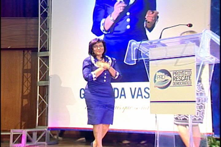 Geanilda Vásquez lanza su candidatura presidencial