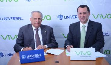 Viva y Universal firman convenio para ampliar servicios a sus clientes