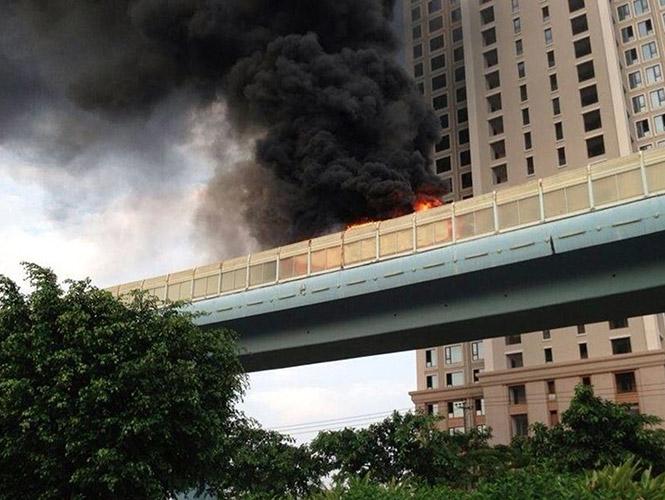 Diez muertos en incendio de autobús en China, el segundo en seis días