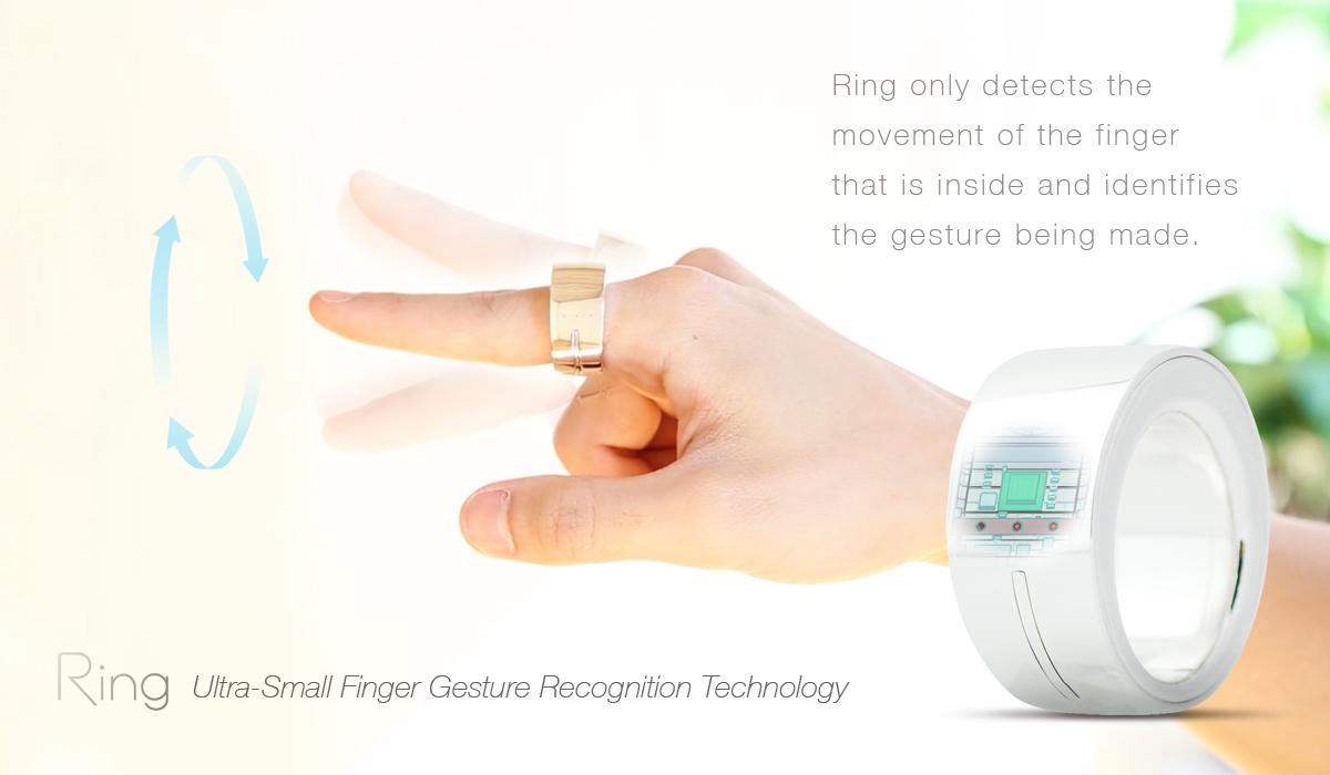 """""""RING"""" anillo inteligente que transmite texto escribiendo letras en el aire"""