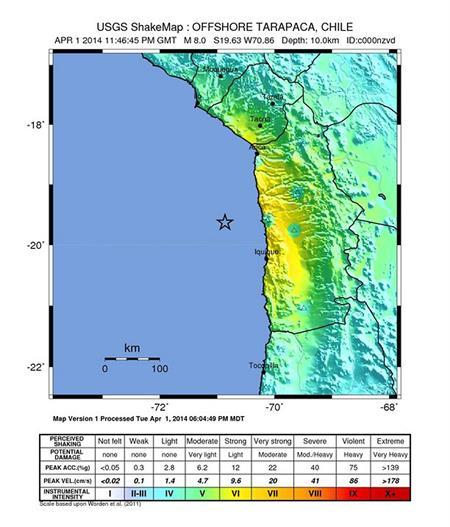 Alerta de tsunami tras terremoto de magnitud 8.3 en el norte de Chile