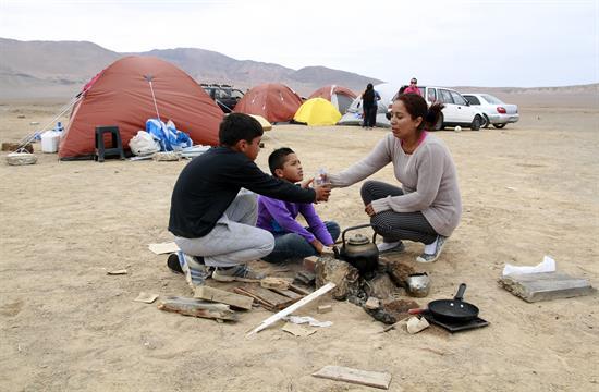 Afectados por terremoto en Chile protestan por falta de ayuda