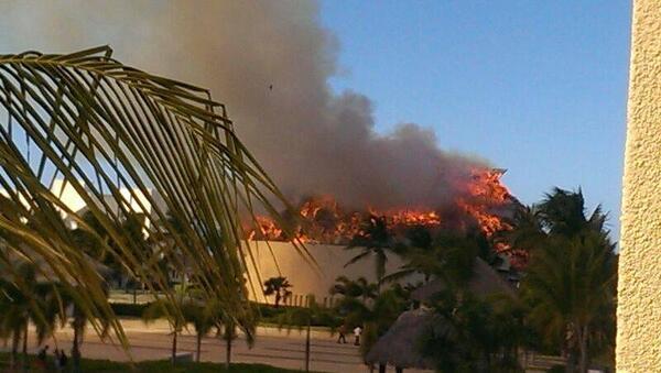 Incendio destruye un restaurante del Hard Rock Hotel Punta Cana