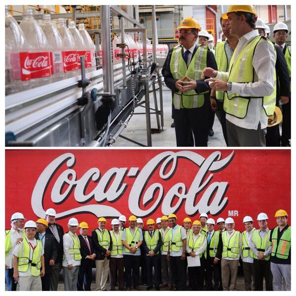 Danilo Medina visita instalaciones empresa Bepensa en México