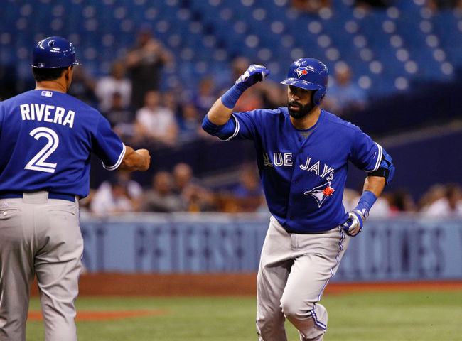 Bautista encabeza jornada MLB con 2 cuadrangulares; Ortiz y Cruz HR