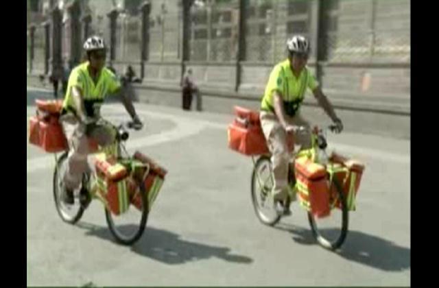 Ponen en funcionamiento ambulancias en dos ruedas en México