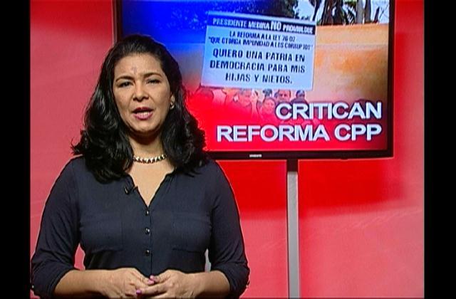 Medina devuelve al congreso proyecto de modificación del Código Procesal Penal