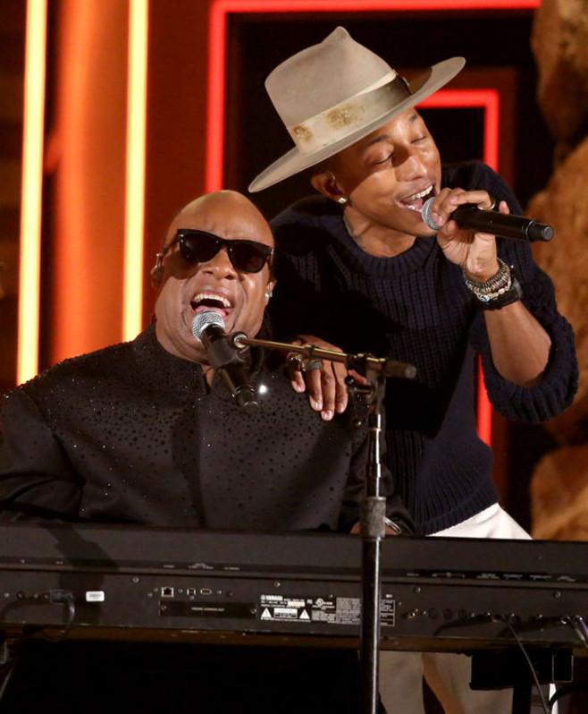 Stevie Wonder y Pharrell Williams estrellas de ayer y de hoy en Montreux 2014