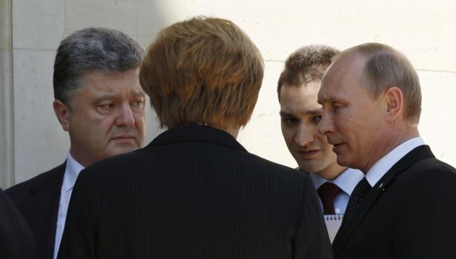 Putin se reúne por primera vez con nuevo presidente de Ucrania