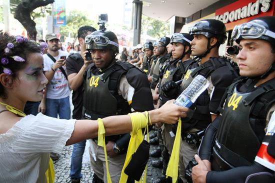 Al menos 34 detenidos en Brasil tras protestas durante sexto día del Mundial