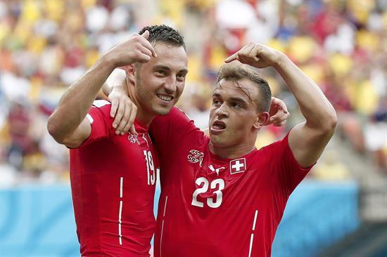 Suiza vence a Honduras por 2-0 al final del primer tiempo