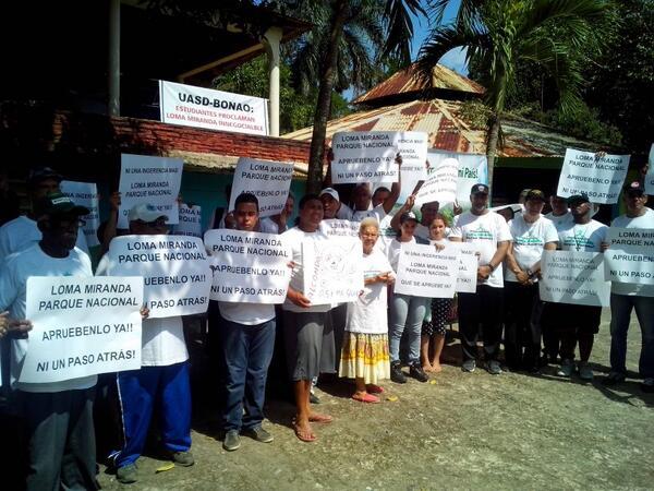Activistas se mantienen en pie de lucha a favor de que Loma Miranda sea Parque Nacional