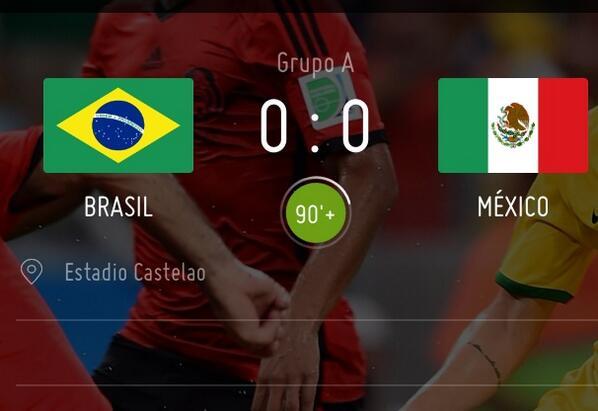 0-0. México se le atraganta a Brasil