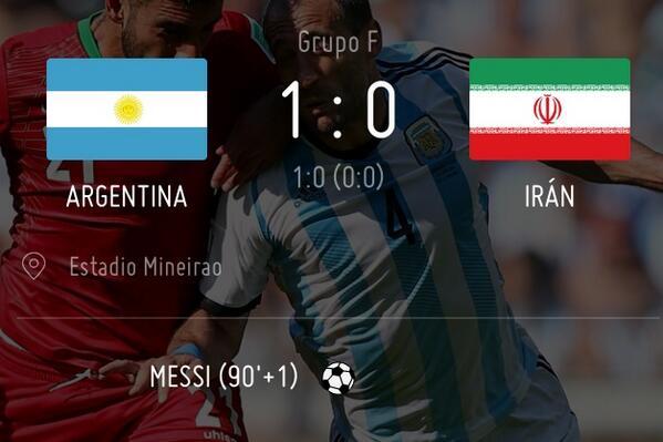 1-0 Un gol de Messi sobre la hora le da un agónico triunfo a Argentina