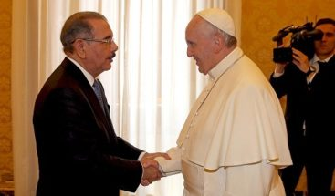 Fotos del presidente Danilo Medina con el papa