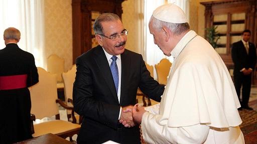 Presidente Medina destaca coincidencia de pensamiento con el papa