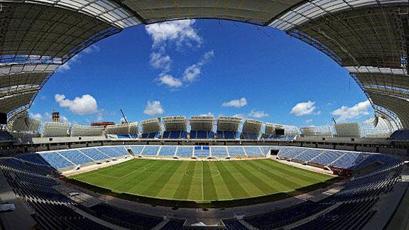 Bomberos aprueban seguridad de estadio de Natal antes de EEUU-Ghana