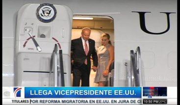 Joe Biden llega al país para visita oficial de dos días; este jueves se reunirá con Medina