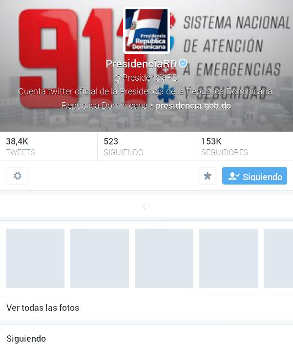 Presidencias de RD y México son las más activas en Twitter