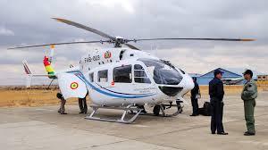 Helicóptero de Morales aterriza antes de llegar a su destino por mal clima