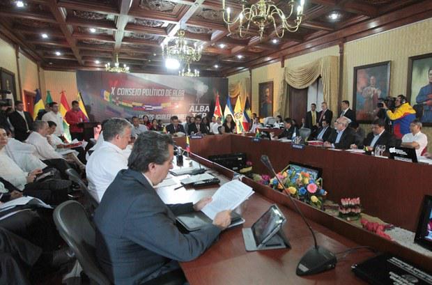 El Consejo político de la ALBA se reunirá este martes en Venezuela